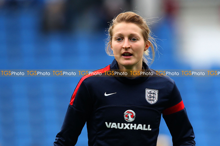 Ellen White of England ahead of kick-off - England Women vs Montenegro Women - FIFA Womens World Cup 2015 Qualifying Group 6 Football at The Amex, Falmer Stadium, Brighton & Hove Albion FC - 05/04/14 - MANDATORY CREDIT: Gavin Ellis/TGSPHOTO - Self billing applies where appropriate - 0845 094 6026 - contact@tgsphoto.co.uk - NO UNPAID USE
