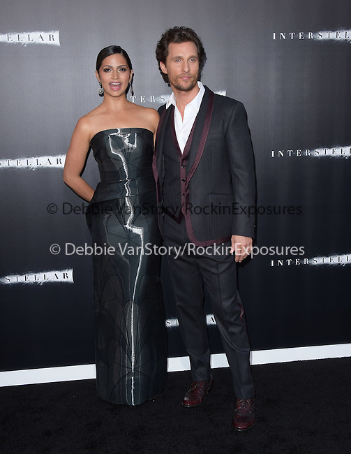 Camila Alves McConaughey and Matthew McConaughey attends The Los Angeles premiere of INTERSTELLAR, from Paramount Pictures and Warner Brothers Pictures held at The TCL Chinese Theatre in Hollywood, California on October 26,2014                                                                               © 2014 Hollywood Press Agency