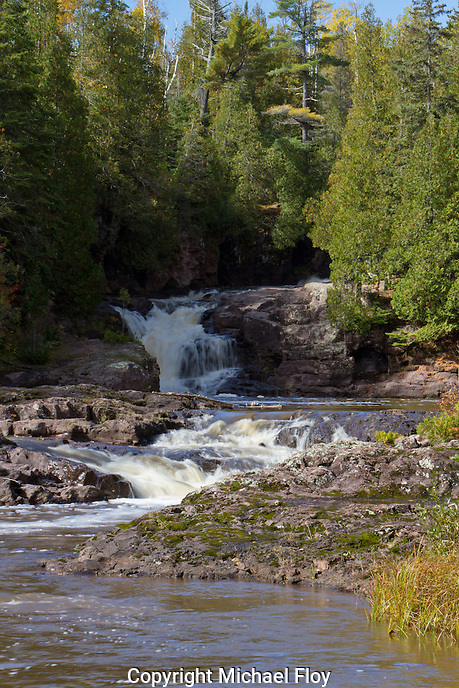 Fifth Falls located on the Gooseberry River in Gooseberry Falls State Park, Minnesota.