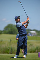 Doug Ghim (USA) watches his tee shot on 8 during round 4 of the AT&T Byron Nelson, Trinity Forest Golf Club, Dallas, Texas, USA. 5/12/2019.<br /> Picture: Golffile   Ken Murray<br /> <br /> <br /> All photo usage must carry mandatory copyright credit (© Golffile   Ken Murray)