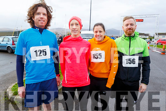 Dave Shanahan (The Kerries), Doreen Moore (Caherslea), Erica Quill (Cluinard) and Brendan Quill (Ashgrove) at the Kerins O'Rahillys GAA Club 10k/5k race at the clubhouse on Sunday.