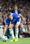 Chelsea's Antonio Conte in action during the Premier League match at the Emirates Stadium, London. Picture date September 24th, 2016 Pic David Klein/Sportimage