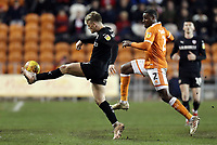 Barnsley's Cameron McGeehan controls under pressure from Blackpool's Donervon Daniels<br /> <br /> Photographer Rich Linley/CameraSport<br /> <br /> The EFL Sky Bet League One - Blackpool v Barnsley - Saturday 22nd December 2018 - Bloomfield Road - Blackpool<br /> <br /> World Copyright &copy; 2018 CameraSport. All rights reserved. 43 Linden Ave. Countesthorpe. Leicester. England. LE8 5PG - Tel: +44 (0) 116 277 4147 - admin@camerasport.com - www.camerasport.com