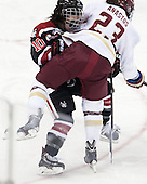 Colleen Murphy (NU - 10), Andie Anastos (BC - 23) - The Boston College Eagles defeated the Northeastern University Huskies 3-0 on Tuesday, February 11, 2014, to win the 2014 Beanpot championship at Kelley Rink in Conte Forum in Chestnut Hill, Massachusetts.