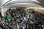 DENTON, TX  JANUARY 1:  University of North Texas Mean Green football team sits in locker room before the Heart of Dallas Bowl at Cotton Bowl Stadium in Dallas on January 1, 2014 in Dallas, TX.  Photo by Rick Yeatts North Texas won 36-14 over UNLV.