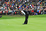 Graeme McDowell pisses his putt on the 16th green at the 2010 Ryder Cup at the Celtic Manor twenty ten course, Newport Wales, 2/10/2010.Picture Fran Caffrey/www.golffile.ie.
