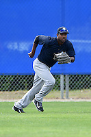 New York Yankees Ericson Leonora (65) during practice before a minor league spring training game against the Toronto Blue Jays on March 24, 2015 at the Englebert Complex in Dunedin, Florida.  (Mike Janes/Four Seam Images)