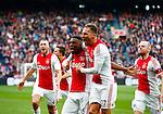 Nederland, Amsterdam, 7 februari 2016<br /> Eredivisie<br /> Seizoen 2015-2016<br /> De Klassieker <br /> Ajax-Feyenoord<br /> Riechedly Bazoer van Ajax schreeuwt het uit, nadat hij de 2-1 heeft gescoord.
