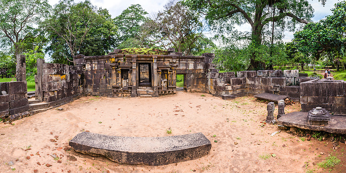 Ancient City of Polonnaruwa, panoramic photo of Shiva Devale No 1, ruins of a Hindu Temple, UNESCO World Heritage Site, Sri Lanka, Asia. This is a panoramic photo of the ruins of Shiva Devale Temple No 1, a Hindu Temple in the Ancient City of Polonnaruwa, a UNESCO World Heritage Site in Sri Lanka, Asia.