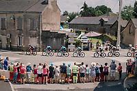 peloton rolling through Vay<br /> <br /> Stage 4: La Baule &gt; Sarzeau (192km)<br /> <br /> 105th Tour de France 2018<br /> &copy;kramon