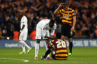 Pictured: (L-R) Roland Lamah, Zavon Hines. Sunday 24 February 2013<br /> Re: Capital One Cup football final, Swansea v Bradford at the Wembley Stadium in London.