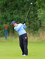 Therese Maher (Mount Juliet) on the 1st fairway during the Final round of the Irish Mixed Foursomes Leinster Final at Millicent Golf Club, Clane, Co. Kildare. 06/08/2017<br /> Picture: Golffile | Thos Caffrey<br /> <br /> <br /> All photo usage must carry mandatory copyright credit      (&copy; Golffile | Thos Caffrey)