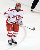 David Warsofsky (BU - 5) - The Boston University Terriers defeated the Merrimack College Warriors 6-4 (EN) on Saturday, January 16, 2010, at Agganis Arena in Boston, Massachusetts.