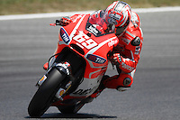14.06.2013 Barcelona, Spain. Gran Premi Aperol de Catalunya. Free practice 2. Picture show Nicky Hayden ridding Ducati at Circuit de Catalunya