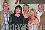 ENJOYABLE: Enjoying themsels at the John Mitchels GAA Club Social, John Joe Sheehy Road, Tralee on Saturday night, L-r: Willie O'Gorman,Irene O'Mahony,Mary Higgins,Miriam Moriarty and Stephen Hennessy..    Copyright Kerry's Eye 2008