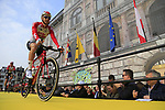 Tim Wellens (BEL) Lotto-Soudal at the team presentation in Antwerp before the start of the 2019 Ronde Van Vlaanderen 270km from Antwerp to Oudenaarde, Belgium. 7th April 2019.<br /> Picture: Eoin Clarke | Cyclefile<br /> <br /> All photos usage must carry mandatory copyright credit (&copy; Cyclefile | Eoin Clarke)