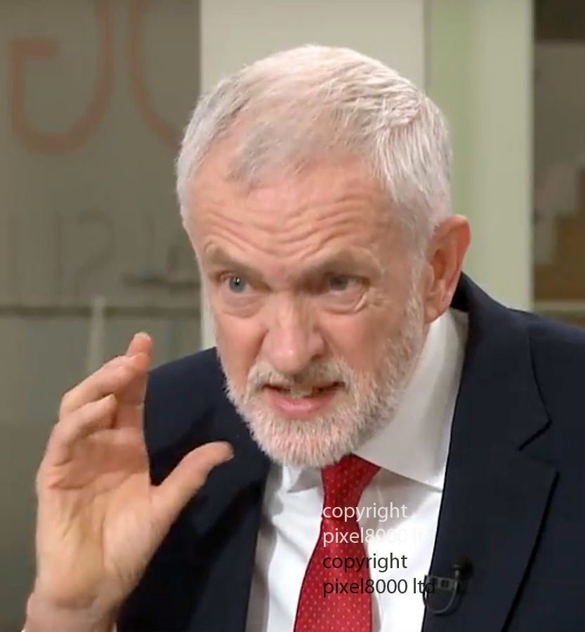 Pic shows: Sky News Sophie Ridge on Sunday<br /> Jeremy Corbyn is grilled on Brexit.<br /> <br /> <br /> <br /> <br /> <br /> supplied by Pixel8000 Ltd