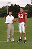 7 August 2006: Stanford Cardinal head coach Walt Harris and Matt Kopa during Stanford Football's Team Photo Day at Stanford Football's Practice Field in Stanford, CA.