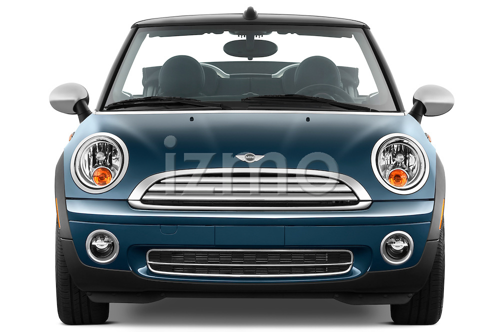 Straight front view of a 2010 Mini Cooper Convertible
