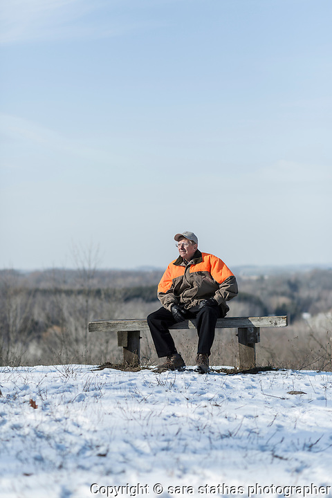 George Meyer, Director of the Wisconsin Wildlife Federation, photographed at the Kettle Moraine North Unit
