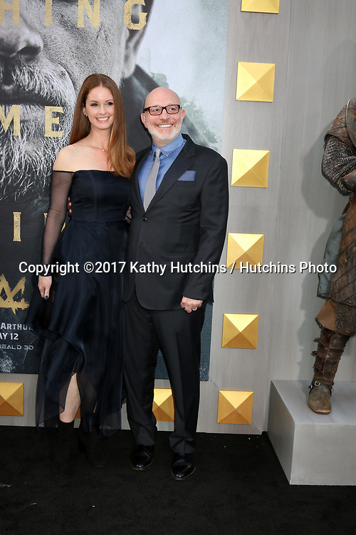 """LOS ANGELES - MAY 8:  Joann Richter, Akiva Goldsman at the """"King Arthur Legend of the Sword"""" World Premiere on the TCL Chinese Theater IMAX on May 8, 2017 in Los Angeles, CA"""