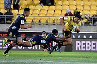 Hurricanes' Chase Tiatia in action during the Super Rugby - Hurricanes v Highlanders at Westpac Stadium, Wellington, New Zealand on Friday 8 March 2019. <br /> Photo by Masanori Udagawa. <br /> www.photowellington.photoshelter.com