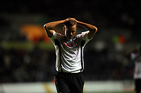 ATTENTION SPORTS PICTURE DESK<br /> Pictured: Lee Trundle of Swansea City looks dejected. <br /> Re: Coca Cola Championship, Swansea City Football Club v Nottingham Forest at the Liberty Stadium, Swansea, south Wales. Saturday 12 December 2009
