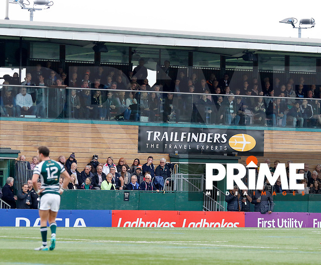 A packed main stand during the Greene King IPA Championship match between Ealing Trailfinders and Bedford Blues at Castle Bar , West Ealing , England  on 29 October 2016. Photo by Carlton Myrie / PRiME Media