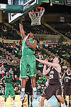 North Texas Mean Green guard Roger Franklin (32) in action during the game between the Lehigh Mountain Hawks and the North Texas Mean Green at the Super Pit arena in Denton, Texas. Lehigh defeats UNT 90 to 75...