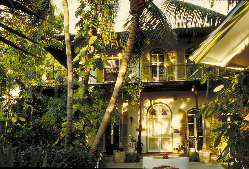 The Ernest Hemingway House on Whitehead Street in Key West, Florida, was owned and lived in by the famous writer from 1931-61. architecture, landmarks,. Key West Florida, Florida Keys.