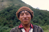 Portrait of a young Bolivian farmer