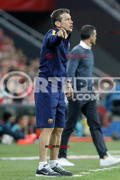 FC Barcelona's Second Coach Juan Carlos Unzue during Supercup of Spain 1st match.August 14,2015. (ALTERPHOTOS/Acero)
