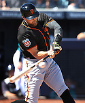 SF Giants&rsquo; Hunter Pence bats in a spring training game against the Seattle Mariners in Peoria, Ariz., on Wednesday, March 16, 2016. <br />Photo by Cathleen Allison