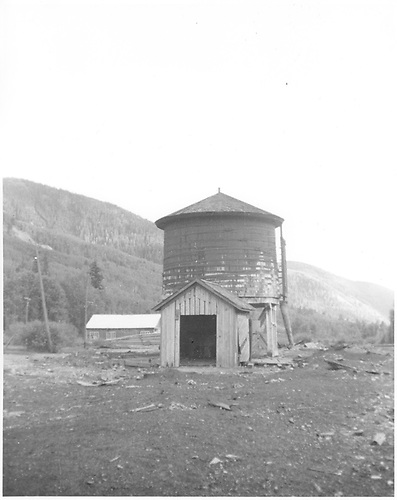 RGS Rico water tank after abandonment.<br /> RGS  Rico, CO