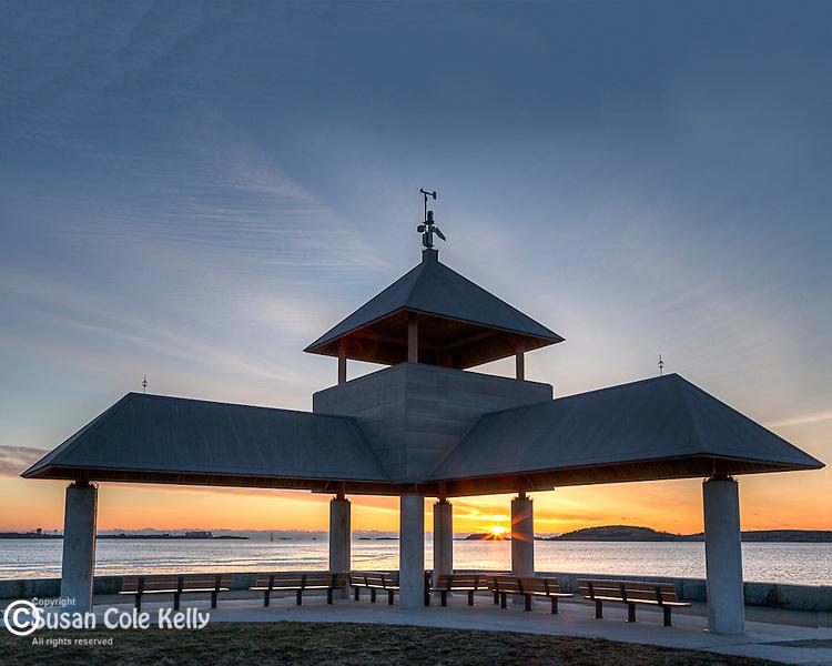 Pavillion on the Castle Island causeway, South Boston, Massachusetts, USA