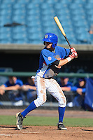 Shortstop Zachary McKinstry (4) of North Side High School in Fort Wayne, Indiana playing for the Chicago Cubs scout team during the East Coast Pro Showcase on August 2, 2013 at NBT Bank Stadium in Syracuse, New York.  (Mike Janes/Four Seam Images)