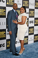 US actress Mo'nique arrives with husband Sidney Hicks at the 25th Independent Spirit Awards held at the Nokia Theater in Los Angeles on March 5, 2010. The Independent Spirit Awards is a celebration honoring films made by filmmakers who embody independence and originality..Photo by Nina Prommer/Milestone Photo