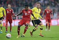 FUSSBALL  DFB-POKAL  VIERTELFINALE  SAISON 2012/2013    FC Bayern Muenchen - Borussia Dortmund          27.02.2013 Mario Goetze (re, Borussia Dortmund) gegen David Alaba (li, Bayern Muenchen)