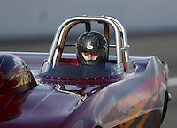 Feb 9, 2017; Pomona, CA, USA; NHRA super gas driver XXXX during qualifying for the Winternationals at Auto Club Raceway at Pomona. Mandatory Credit: Mark J. Rebilas-USA TODAY Sports