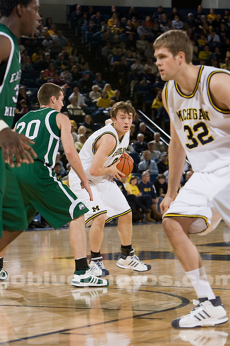 University of Michigan basketball (men) 91-60  victory over Eastern Michigan University at Crisler Arena  on 12/13/08.
