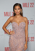 9 August 2018-  Westwood, California - Cara Del Toro. Premiere Of STX Films' &quot;Mile 22&quot; held at The Regency Village Theatre. <br /> CAP/MPIFS<br /> &copy;MPIFS/Capital Pictures