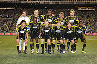 The starting 11 of the Columbus Crew. The Seattle Sounders FC defeated the Columbus Crew 2-1 during the US Open Cup Final at Qwest Field in Seattle,WA, on October 5, 2010.