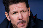 Coach Diego Simeone of Atletico de Madrid reacts prior to the La Liga 2017-18 match between Atletico de Madrid and Athletic de Bilbao at Wanda Metropolitano  on February 18 2018 in Madrid, Spain. Photo by Diego Souto / Power Sport Images