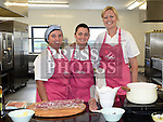 Chef Tara Walker with Patricia Byrne and Sonia Sima at the cookery demonstration in the North East Food Hub at Ardee Business Park. Photo:Colin Bell/pressphotos.ie