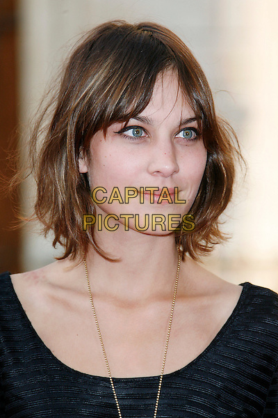 ALEXA CHUNG.attends The Royal Academy of Arts Summer Exhibition at Royal Academy of Arts in London, England, UK, .June 4, 2008..portrait headshot black .CAP/DAR.©Darwin/Capital Pictures