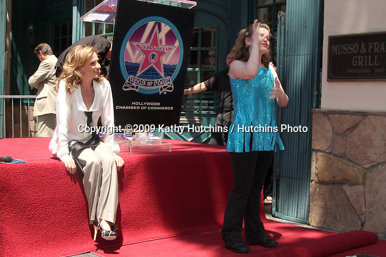 Marlee Matlin and children from The International Center of Deafness & The Arts  attending the Hollywood Walk of Fame Ceremony for Marlee Matlin on Hollywood Boulevard in Los Angeles, CA  on May 6, 2009.©2009 Kathy Hutchins / Hutchins Photo....                .