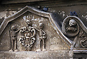 Detail of the ront dedicated to the death of the baroque church (1747) of Purgatorio (Purgatory), Matera, Italy. &copy; Carlo Cerchioli<br /> <br /> Dettaglio della facciata dedicata alla morte della chiesa barocca (1747) del Purgatorio, Matera, Italy.