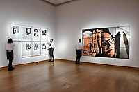 (L) Adam McEwen, Untitled (Jeff, Nicole, Macaulay, Bill, Rod, Marilyn, Malcolm), Estimate &pound;30,000-<br /> 50,000, (R) Gilbert &amp; George, Shadow Blind, Estimate &pound;70,000 - 100,000 at Christie&rsquo;s exhibition of art from the collection of the late George Michael, featuring works by Damien Hirst, Tracey Emin and Marc Quinn, from its upcoming The George Michael Collection Evening and Online Auctions, on view to the public from 9-15 March 2019. <br /> CAP/JOR<br /> &copy;JOR/Capital Pictures