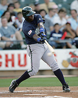 New Orleans Zephyrs 1B Michel Abreu on Sunday June 1st at Dell Diamond in Round Rock, Texas. Photo by Andrew Woolley / Four Seam Images.