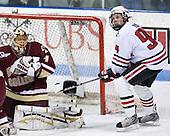 John Muse (BC - 1), Tyler McNeely (NU - 94) - The visiting Boston College Eagles defeated the Northeastern University Huskies 4-1 on NU's senior night, Saturday, March 8, 2008, at Matthews Arena in Boston, Massachusetts.